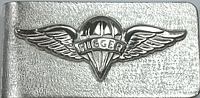 Custom Parachute Rigger Money Clip - Sterling Silver